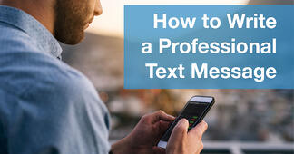 How to Write a Professional Text Message (With Examples) - Featured Image