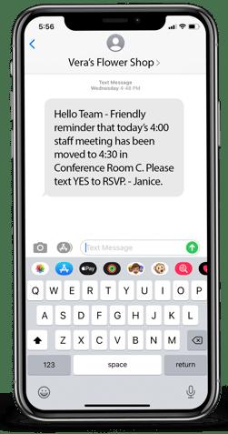Staff Communication Text